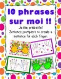 10 Phrases sur moi - Activité pour la rentrée - French bac