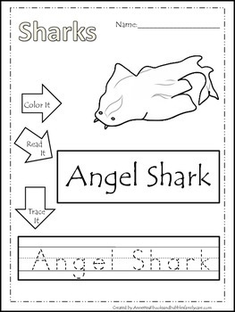 10 Shark themed printable preschool worksheets. Color ...