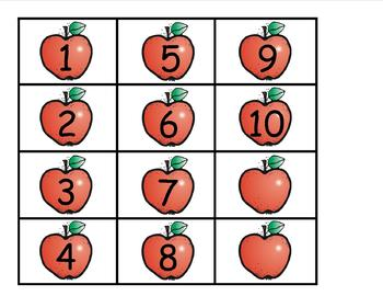 10 Shiny Apples Poem and Pocket Chart Activities