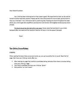 10 Shiny Snowflakes Speech/Language/Fluency Acitivies