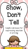 10 Show Don't Tell Posters - Helpful Phrases for Expressin