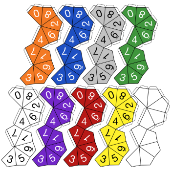 10-Sided Dice Clip Art & Templates