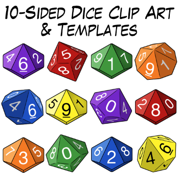 10 sided dice clip art templates by digital classroom clipart tpt
