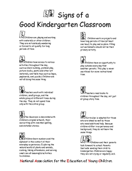 10 Signs of a Good Kindergarten Classroom