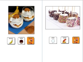 10 Simple, Fast, No-Bake Desert Recipes for Students with AAC Visuals CORE vocab