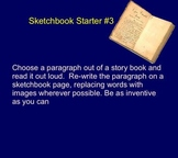 10 Sketchbook Starters - Art Substitute Teacher, Fast Finishers, Extra Credit
