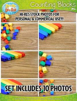10 Snap Counting Blocks Stock Photos Pack — Includes Commercial License!