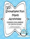 10 Snowflake Fun Math Activites!-Common Core Aligned for 2