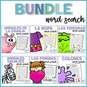 Sopas de letras SPANISH BUNDLE (Word Search Puzzles Bundle)