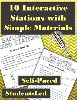 10 Sound and Waves w/ Experiment Interactive Stations with Simple Materials