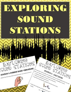 10 Sound & Wave Experiment Interactive Stations w/ Simple Materials: Student-led