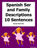 Spanish Adjectives 10 Sentences With Family and Ser Worksheet
