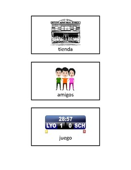 10 Spanish Nouns Worksheet and Picture Cards