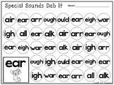 10 Special Sounds Dab It Worksheets. Kindergarten-1st Grade ELA.