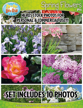 10 Spring Flowers Stock Photos Pack — Includes Commercial License!