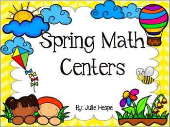10 Spring Math Centers