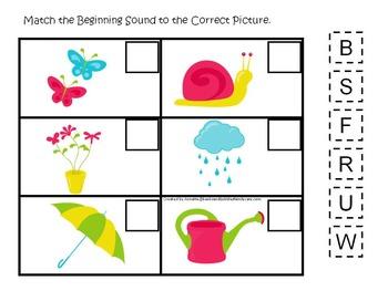 10 Spring Season themed preschool games and worksheets bundle.