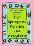 10 Springtime Coloring and Worksheets