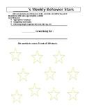 *Editable* 10 Star Behavior Chart