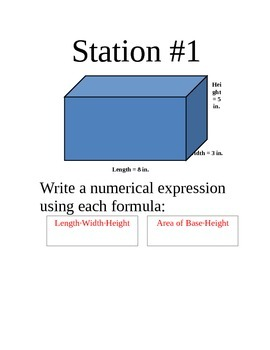 10 Stations on Finding the Volume of Prisms