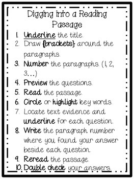 10 Steps for Digging into a Reading Passage