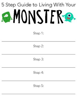 10 Steps to Living With Your Monster Fun Writing Activities
