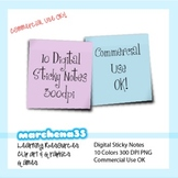 10 Sticky Note Clip Art Images - Commercial Use OK