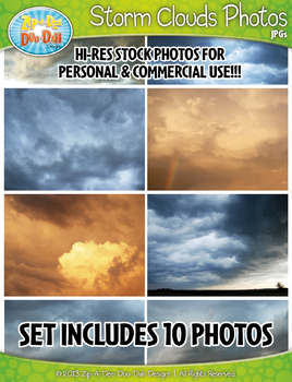 10 Storm Clouds Stock Photos Pack — Includes Commercial License!