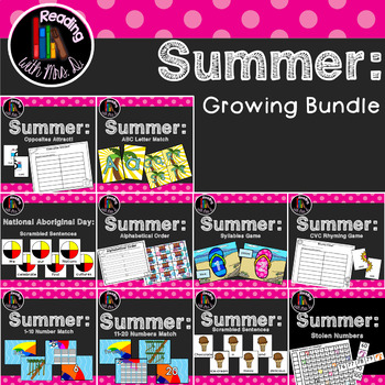 10 Summer Centers Growing BUNDLE
