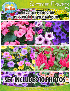 10 Summer Flowers Stock Photos Pack — Includes Commercial License!