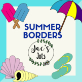 10 Summer Borders/Frames (10 coloured, 10 black and white)