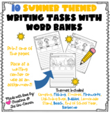 10 Summer Themed Writing Tasks With Word Banks