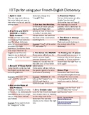 10 Tips for using your French-English Dictionary