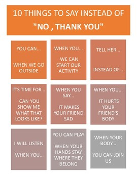 """10 THINGS TO SAY INSTEAD OF """"NO, THANK YOU"""""""