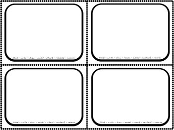 Task Card Math Frames, Borders, and Templates