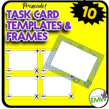 Task Card Math Frames, Borders, and Templates