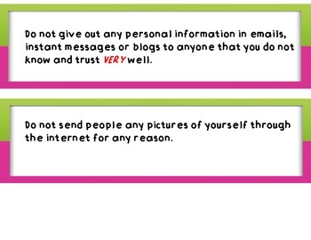 10 Ten Rules for Blog and Internet Safety Bulletin Board