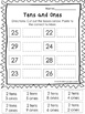 10 Tens and Ones Place Value Worksheets.  Kindergarten-1st grade.