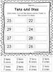 10 Tens and Ones Place Value Worksheets.  Kindergarten-1st grade.