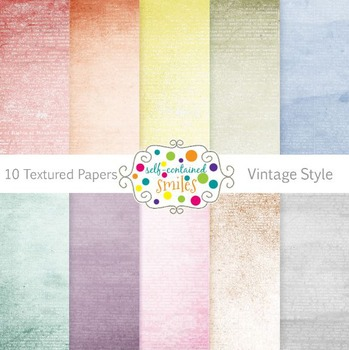 10 Textured Vintage-Style Papers