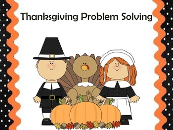 10 Thanksgiving Common Core Problem Solving Practice pages for Second Grade
