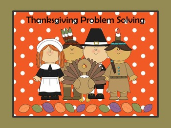 10 Thanksgiving Common Core Problem Solving practice pages for 3rd grade