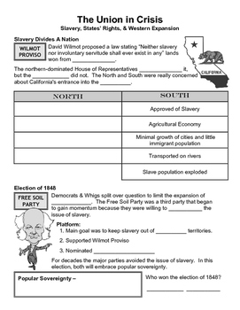 10 - The Union in Crisis - Scaffold/Guided Notes (Blank an