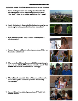 10 Things I Hate about You Film (1999) Study Guide Movie Packet