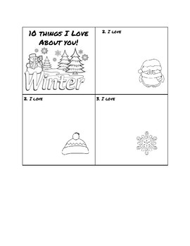 10 Things I Love About You Christmas Gift