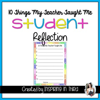 10 Things My Teacher Taught Me