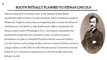 10 Things One MAY NOT Know about the Assassination of Lincoln--Solving Riddles!
