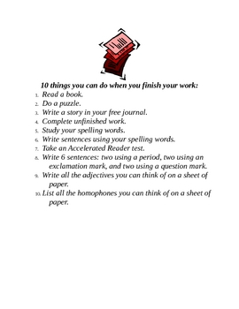 10 Things You Can Do When You're Done