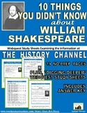 Shakespeare Webquest: 10 Things You Didn't Know