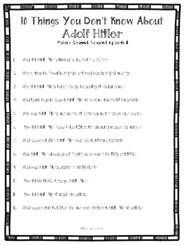 10 Things You Don't Know About Adolf Hitler Video Guide